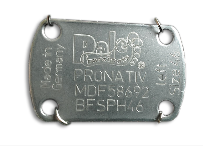Every PaleoBarefoots® has its individual serial number!