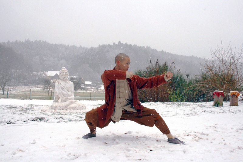 Carlos Dunick and his master of Shaolin Temple Europe