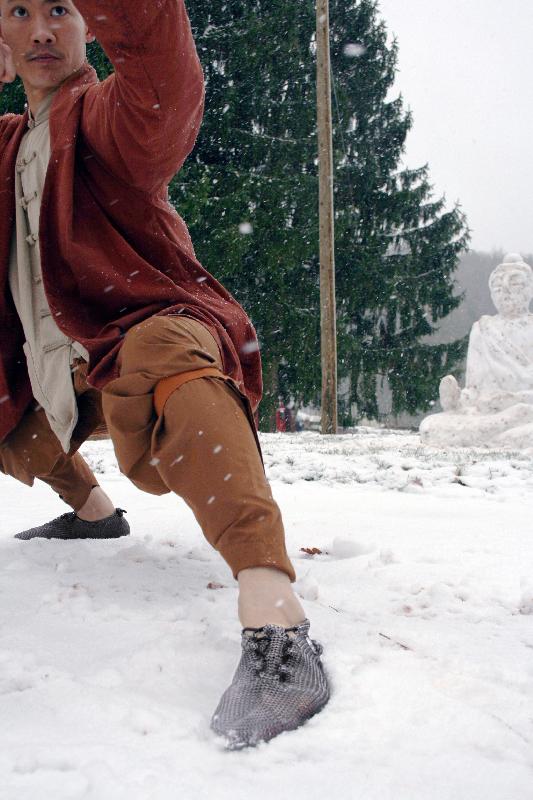 Carlos Dunick und sein Meister vom Shaolin Tempel Europa