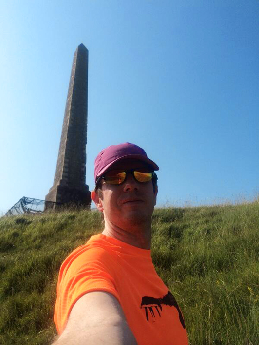Neat selfie by Steve during the first run with the Paleos® in beautiful countryside.