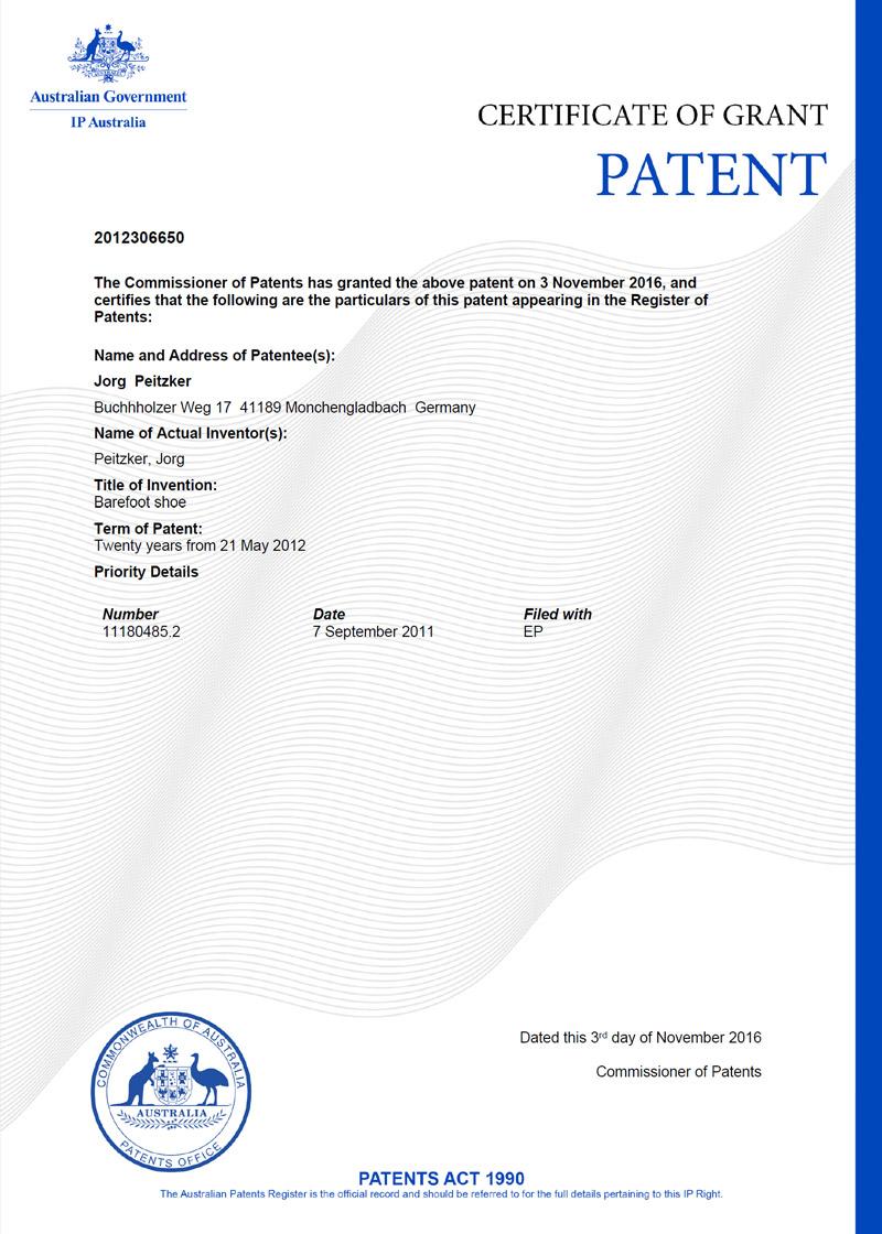 Paleo® patentiert in Australien!